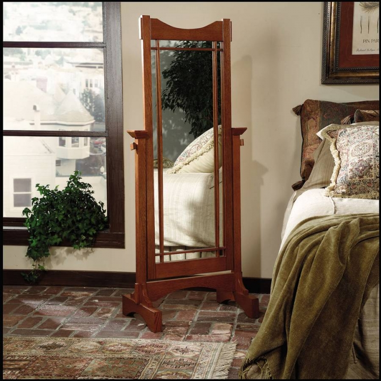 Mission Oak Cheval Mirror - Powell