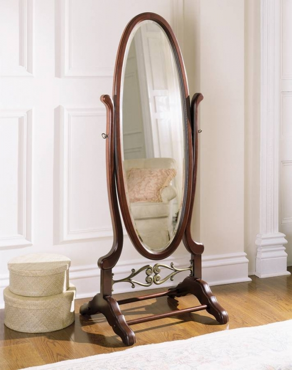 Heirloom Cherry Cheval Mirror - Powell
