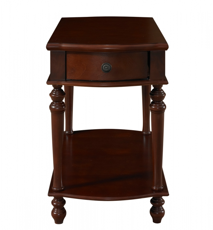 Chairside Table with Drawer - Heirloom Cherry - Powell