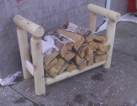 Cedar Looks Firewood 3ft Rack