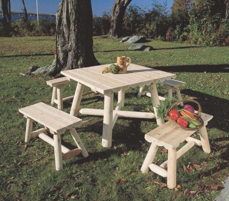 Cedar Looks Square Table Set
