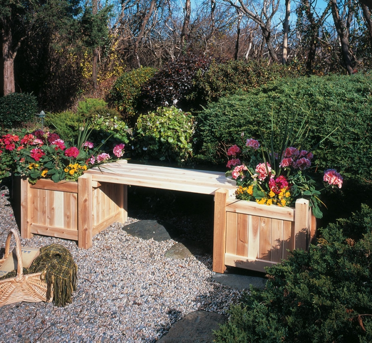 Cedar Looks Planter Box - Rustic Cedar