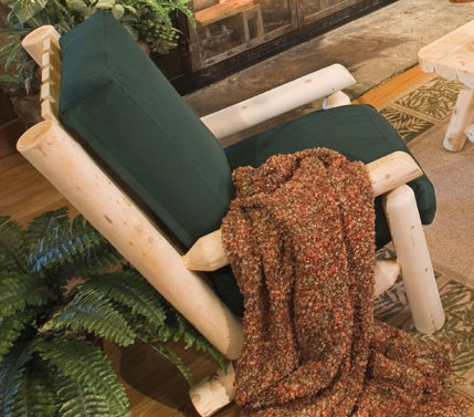Cedar Looks Living Room Log Chair - Rustic Cedar