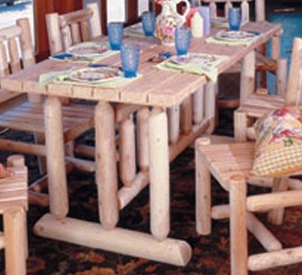 Cedar Looks Harvest Family Dining Table