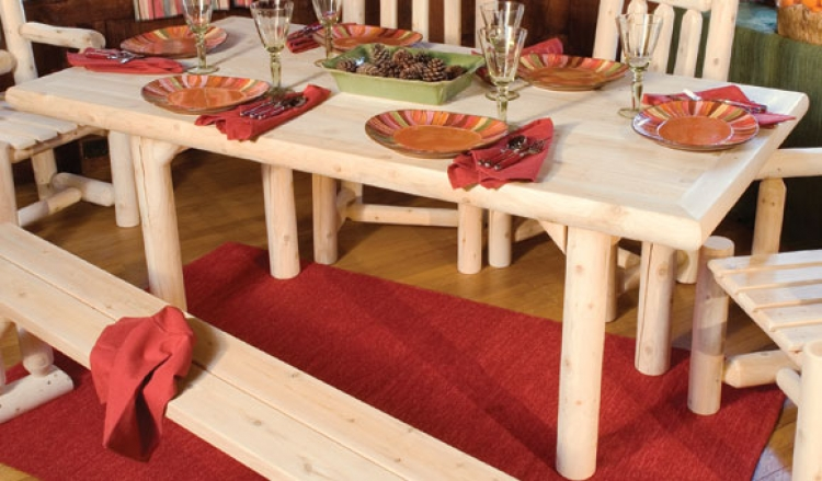 Cedar Looks Solid Top Dining Table