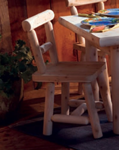 Cedar Looks Solid Seat Dining Chair - Rustic Cedar