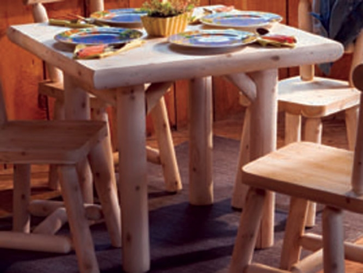 Cedar Looks Solid Top Dining Table - 35in - Rustic Cedar