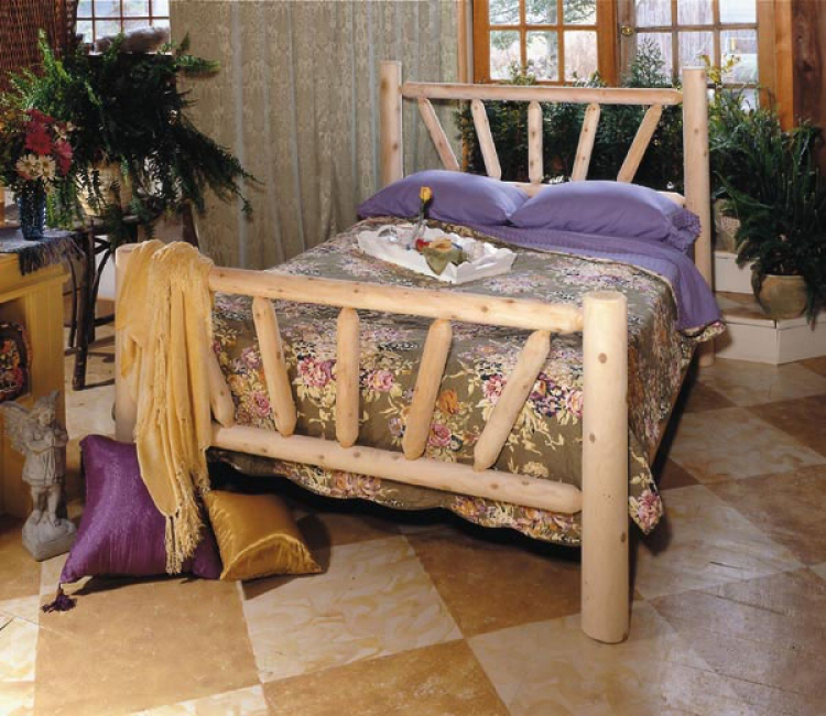 Cedar Looks Sunburst Bed - Rustic Cedar
