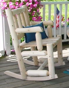 Cedar Looks Porch Rocker Chair - Rustic Cedar
