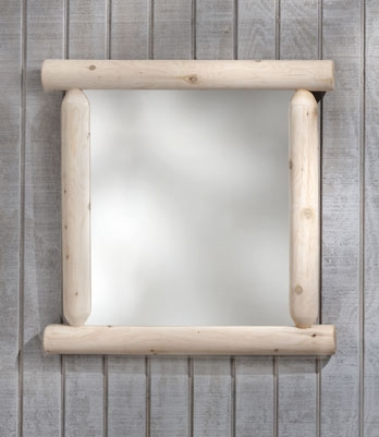 Cedar Looks Log Mirror - Rustic Cedar