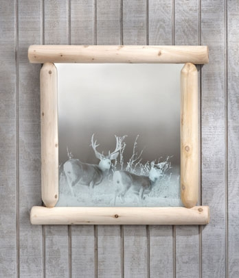 Cedar Looks Wilderness Mirror - Rustic Cedar