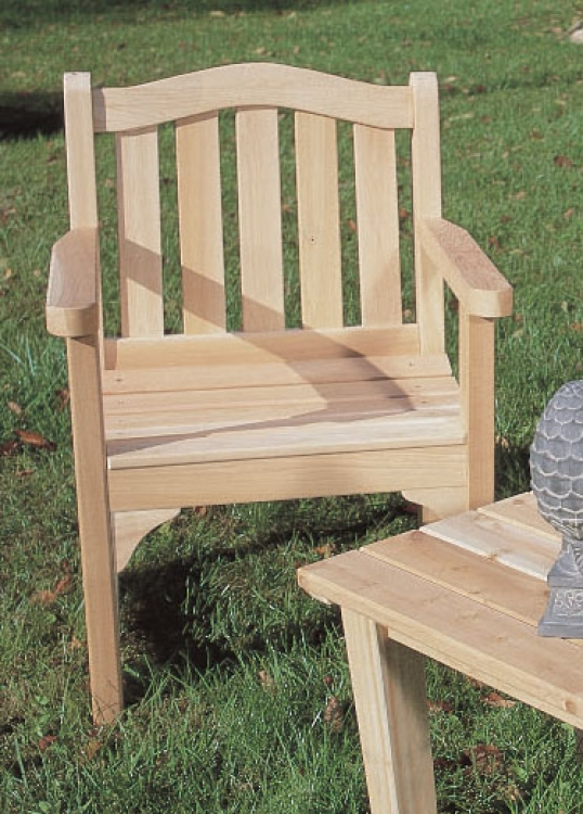 Cedar Looks Camel Back Chair - Rustic Cedar
