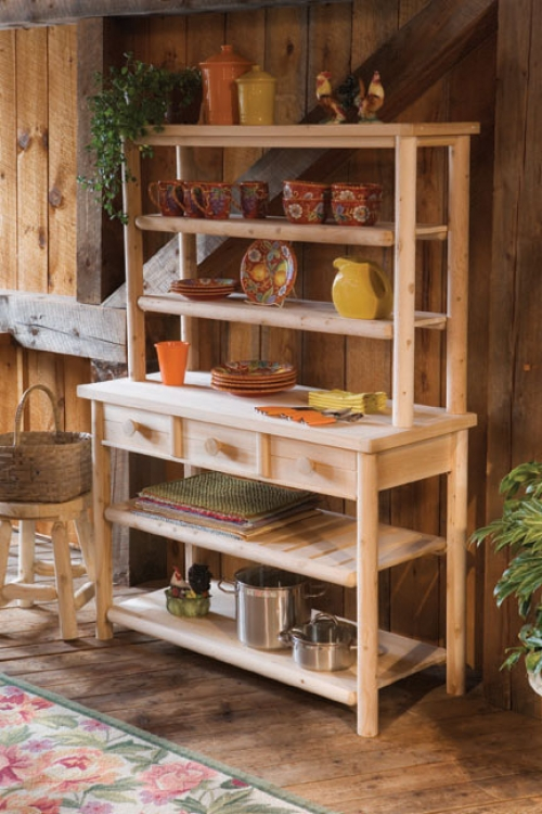Cedar Looks Buffet with Hutch - Rustic Cedar