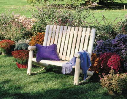 Cedar Looks High Back Rocker Settee