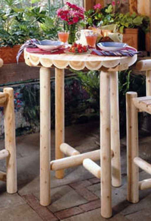 Cedar Looks Bistro Table 42in - Rustic Cedar