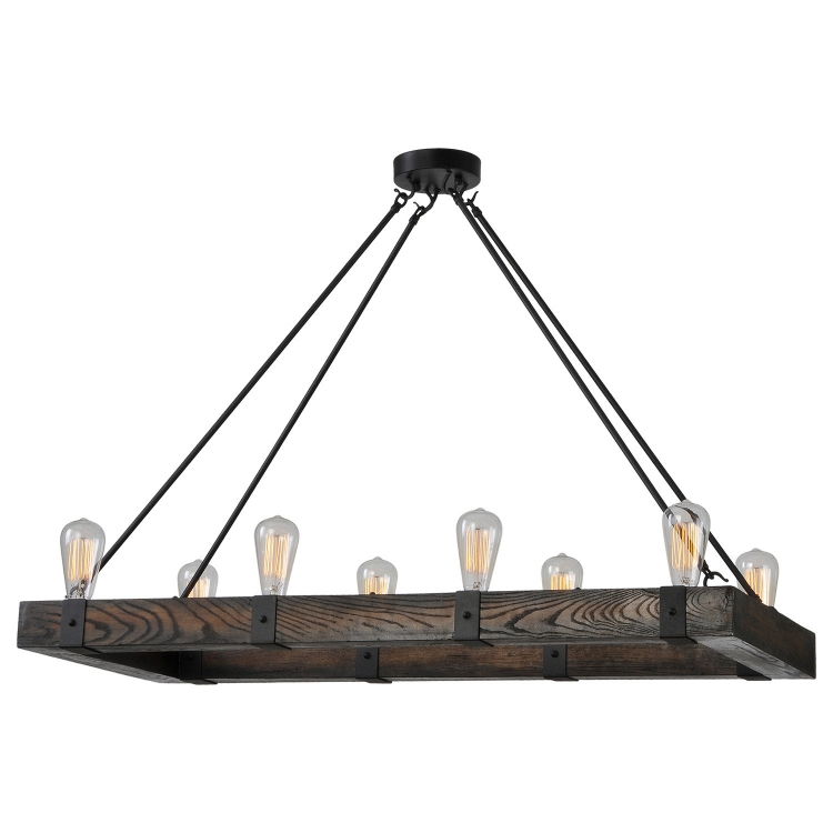 Salvatore Wood Chandelier Ceiling Fixture - Wood Finish