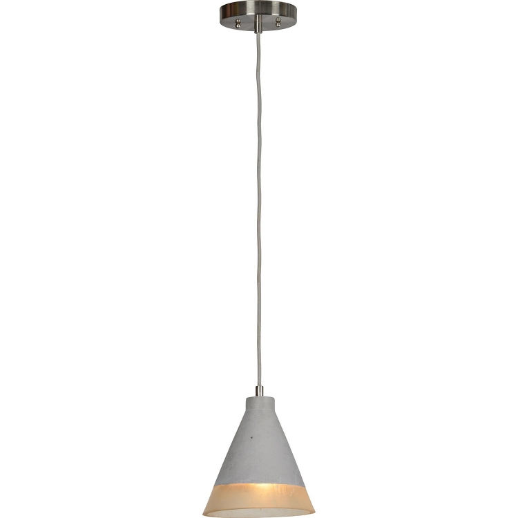 Edmund Ceiling Fixture - Grey Cement/Transparent Resin