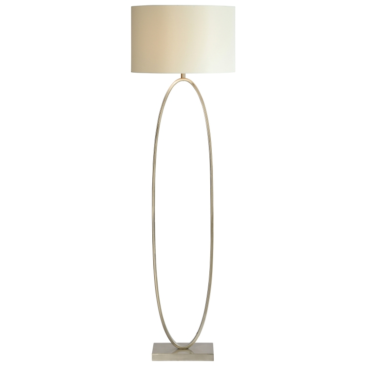 Willow Floor Lamp - Satin Nickel