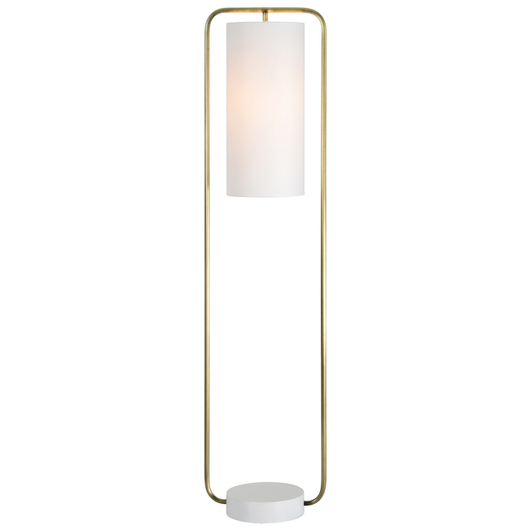 Simpson Floor Lamp - Antique Brass/Matte Cream