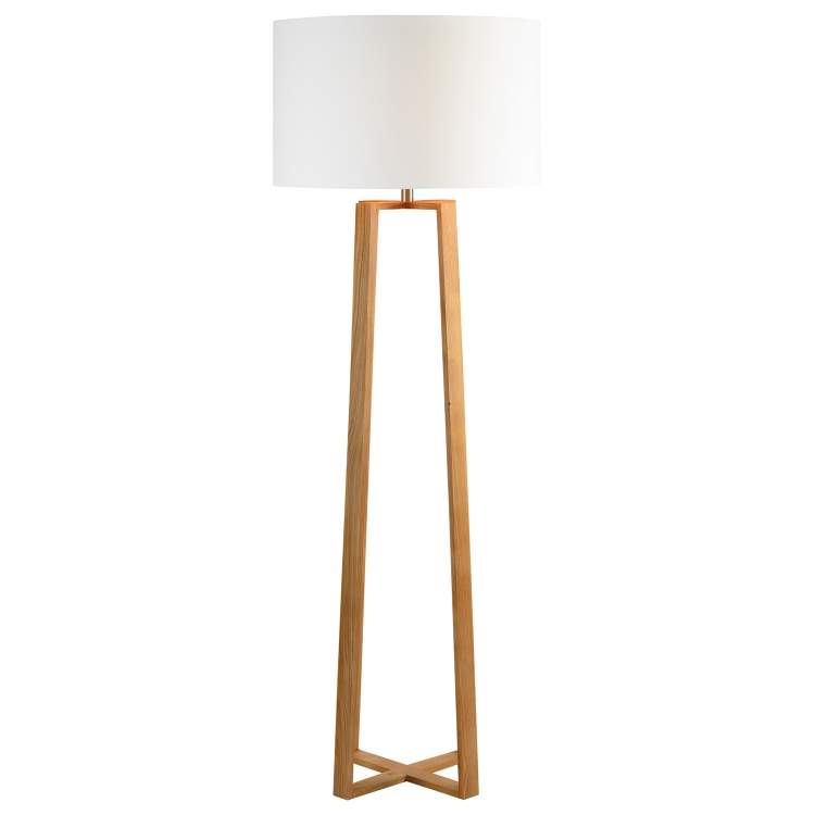 Cranston Floor Lamp - Natural Wood Color