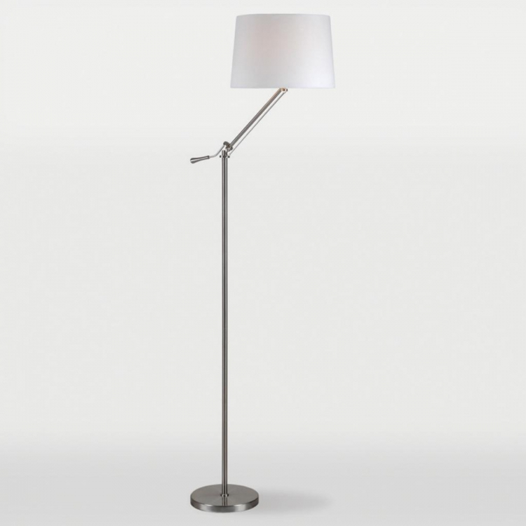 Krona Floor Lamp - Brushed Nickel