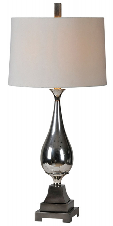 Jerrica Table Lamp - Silver Plated