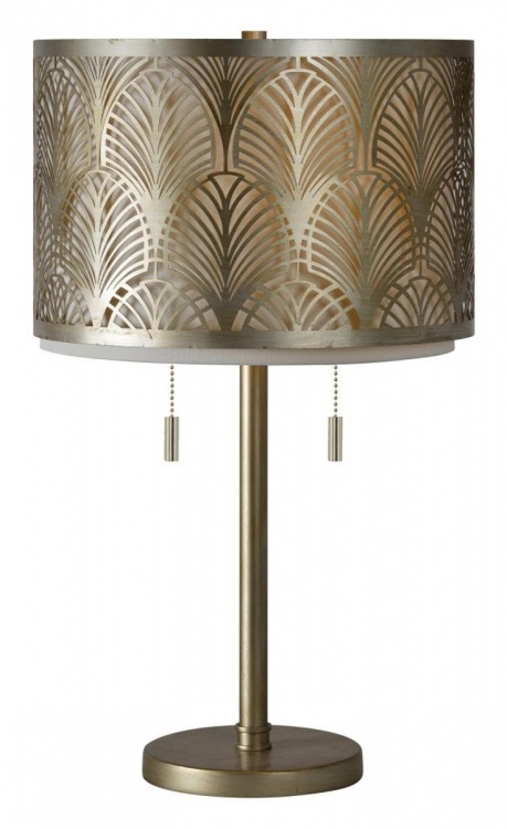 Marianne Table Lamp - Silver leaf