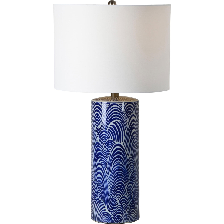 Stafford Table Lamp - Blue/White