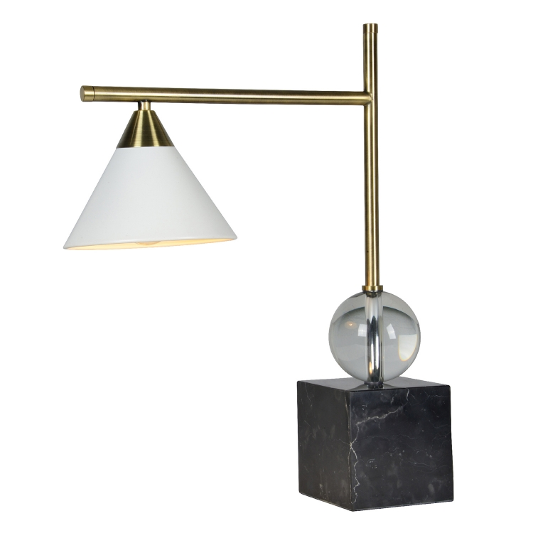 Cruzo Table Lamp - Black and Gold