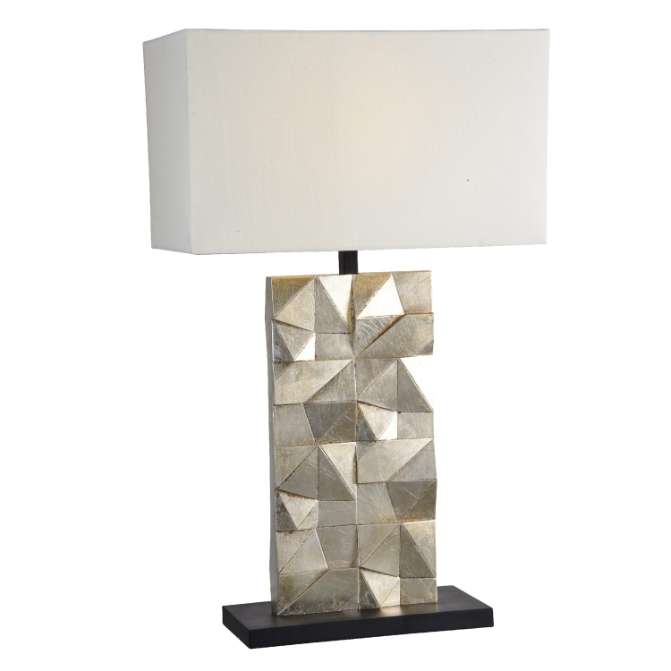 Catalan Table Lamp - Silver leaf/Black