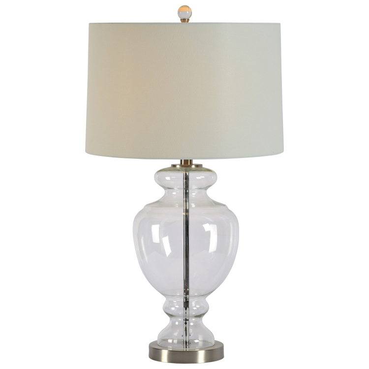 Belgrade Table Lamp - Satin Nickel