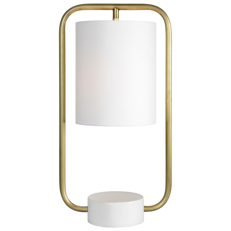 Sinclair Table Lamp - Antique Brass/Matte Cream