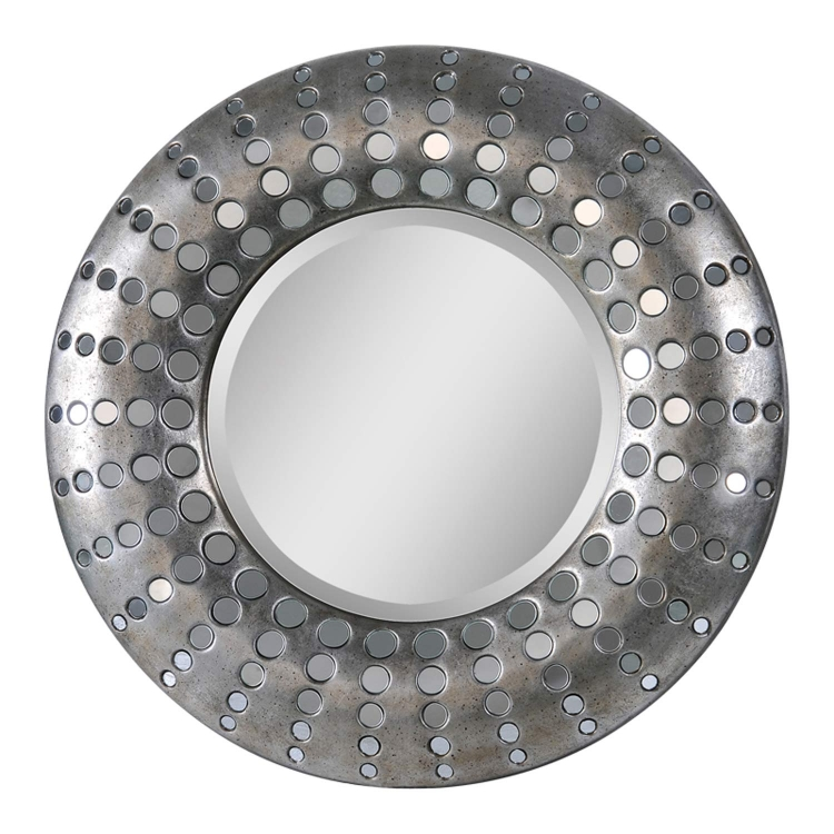 Round Splendid Mirror - Antique Silver