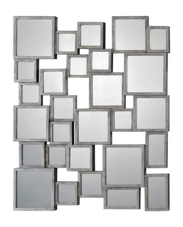 Portrait Stafford Small Mirror -Silver/Black
