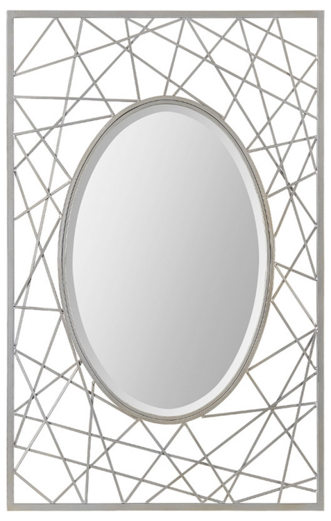 Portrait Briley Mirror - Satin Nickel - Ren-Wil