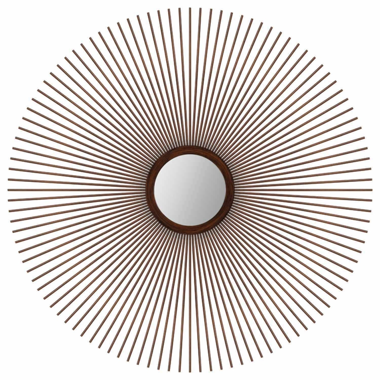 Round Gilman Mirror - Brown-Wash