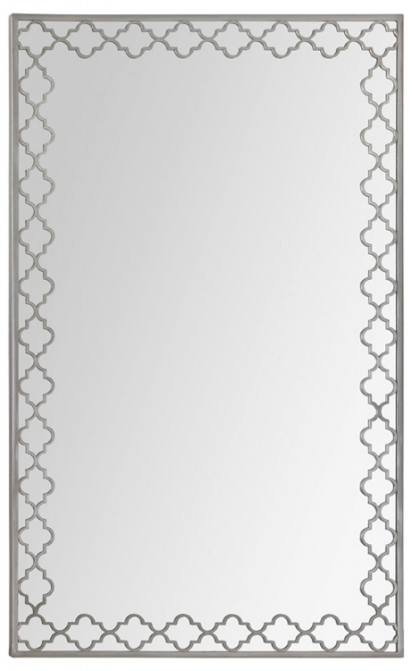 Round Dubai Mirror - Satin Nickel - Ren-Wil