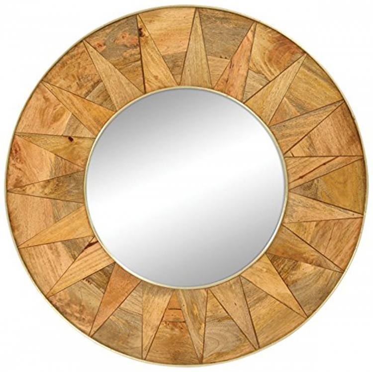 MT1379B Mayan Mirror - Natural