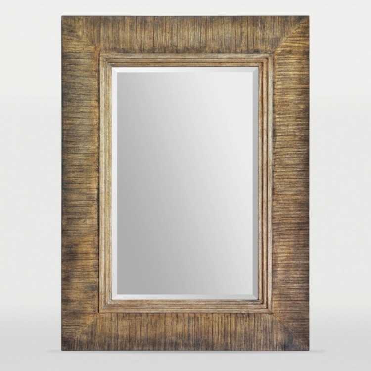 Gotland Mirror - Hand Painted Brown