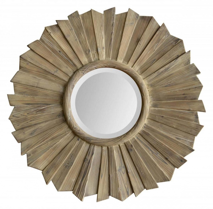 Kendra Mirror - Washed wood