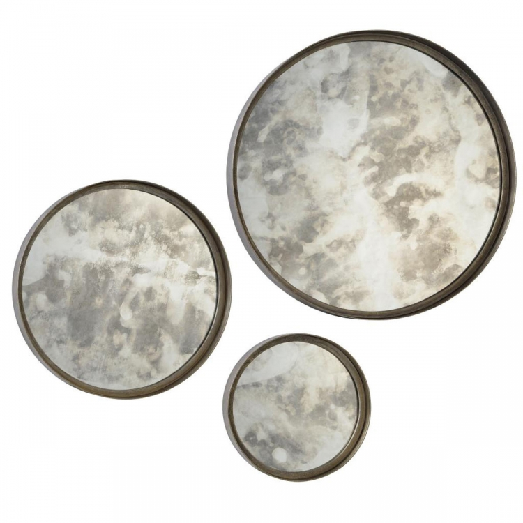 Shire Set of 3 Mirrors - Antique Silver