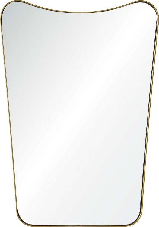 Tufa Mirror - Gold powder Coated