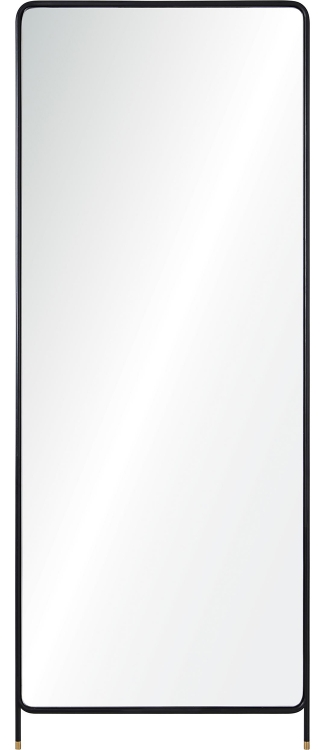 Step Mirror - Matte Black/Brass