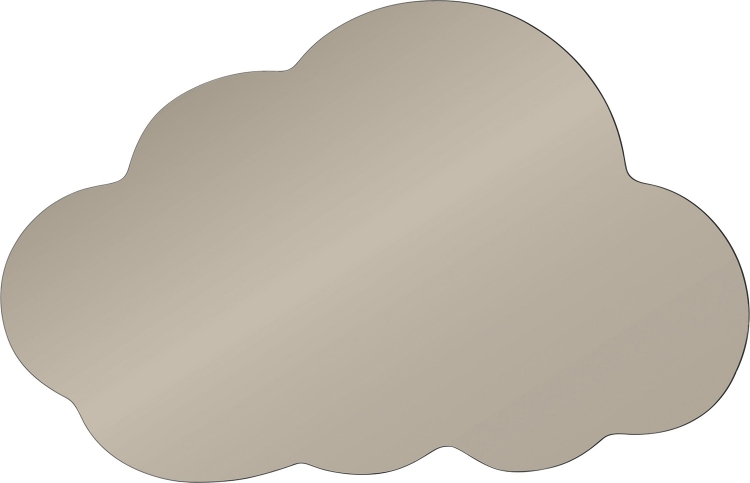 Raindrop Mirror - Smoky Grey