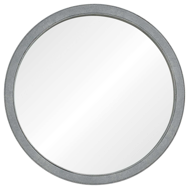 Volute Mirror - Light Grey