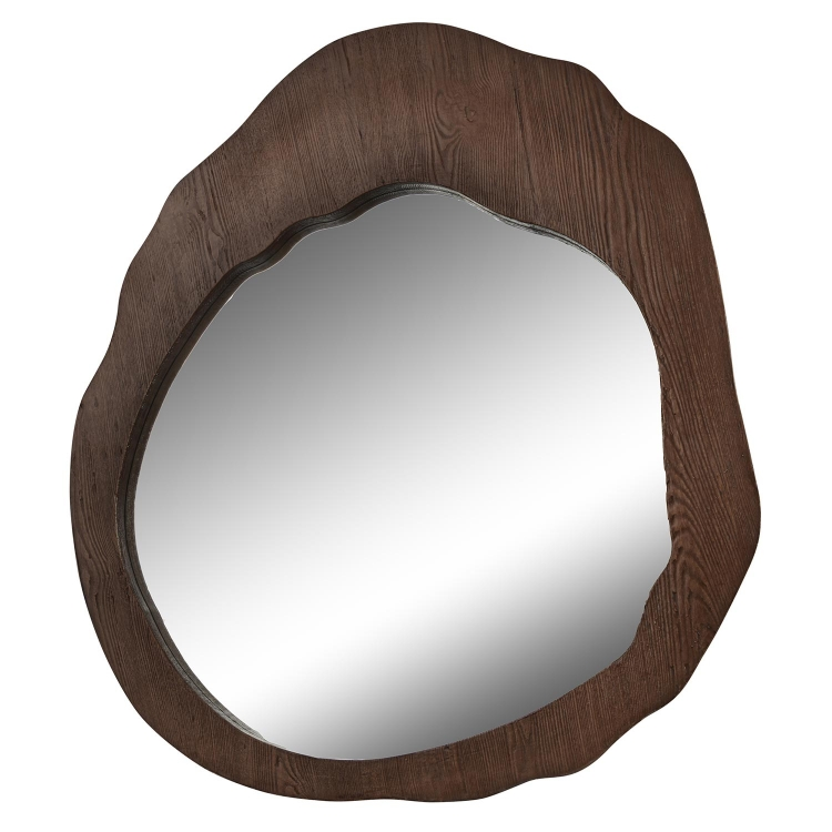 Cluster Mirror - Brown Wood Stained
