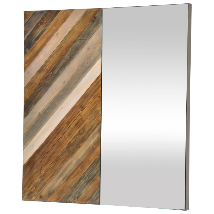 Diptych Mirror - Natural Wood