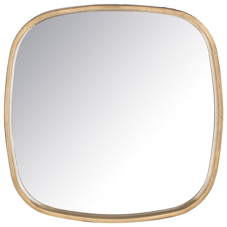 Amherst Square Mirror - Brass Antique