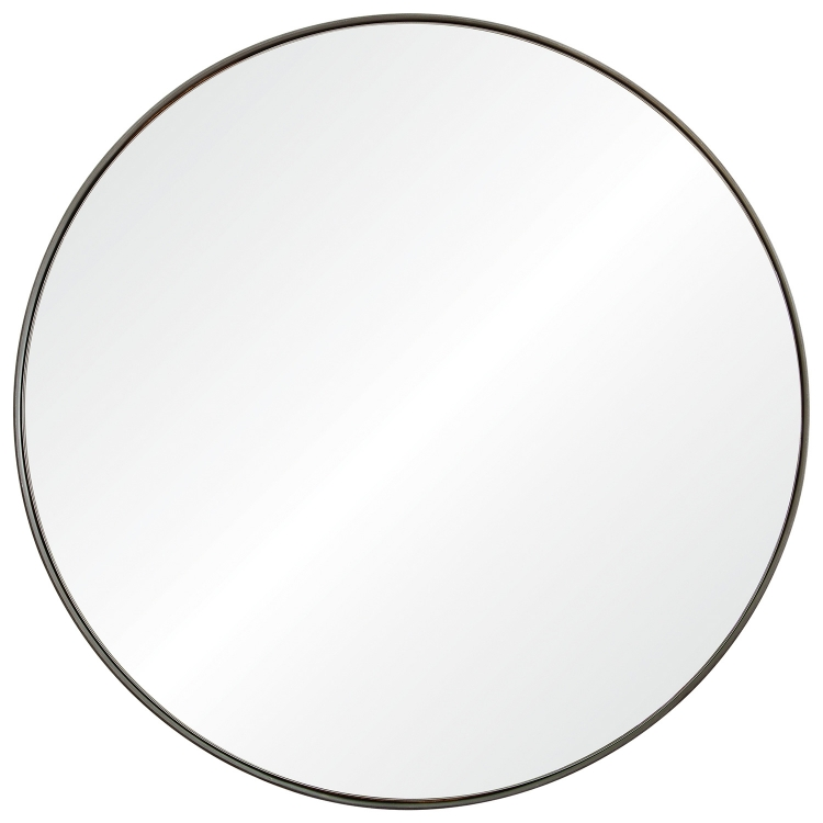 Lester Round Mirror - Silver Brush