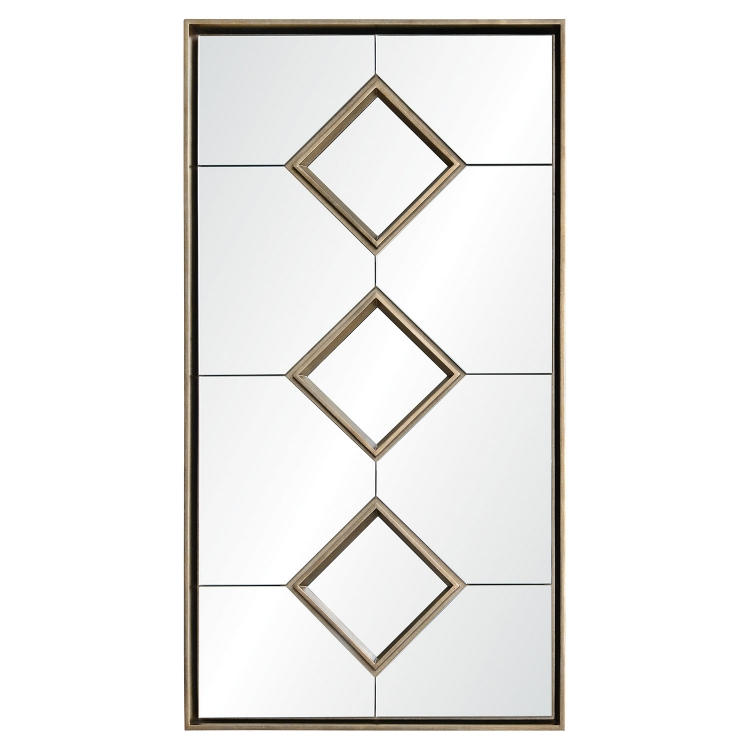 Paxton Rectangular Mirror - Antique Silver